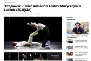 """Kurier Lubelski: """"Czajkowski-Taniec miłości"""" w Teatrze Muzycznym w Lublinie."""