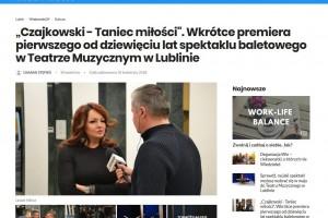 """Nasze Miasto: """"Czajkowski - Taniec miłości"""". Wkrótce premiera pierwszego od dziewięciu lat spektaklu baletowego!"""
