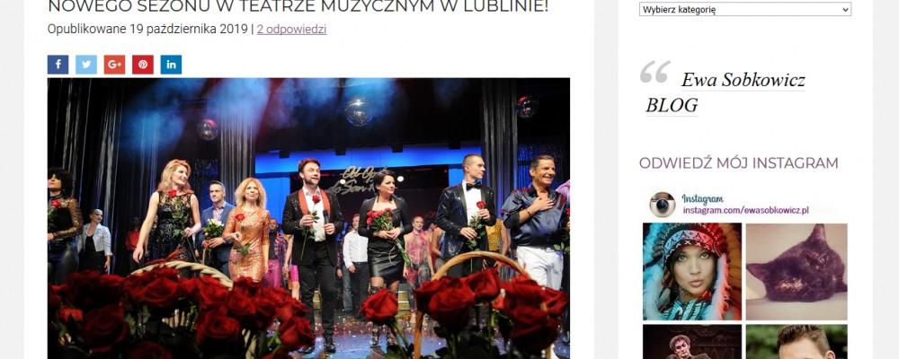 EwaSobkowicz.pl: OD OPOLA DO SAN REMO – PRZEBOJOWA INAUGURACJA NOWEGO SEZONU W TEATRZE MUZYCZNYM W LUBLINIE!