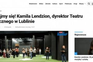 Kurier Lubelski: Poznajmy się! Kamila Lendzion, dyrektor Teatru Muzycznego w Lublinie