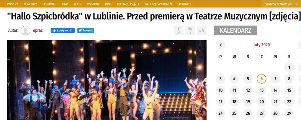 """Dziennik Wschodni: """"Hallo Szpicbródka"""" w Lublinie. Przed premierą w Teatrze Muzycznym [zdjęcia]"""