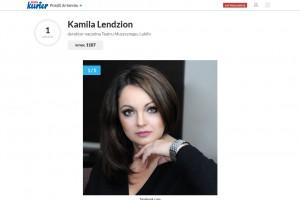 Brawo! Dyrektor Kamila Lendzion na podium plebiscytu Osobowość Roku 2019 w kategorii Kultura