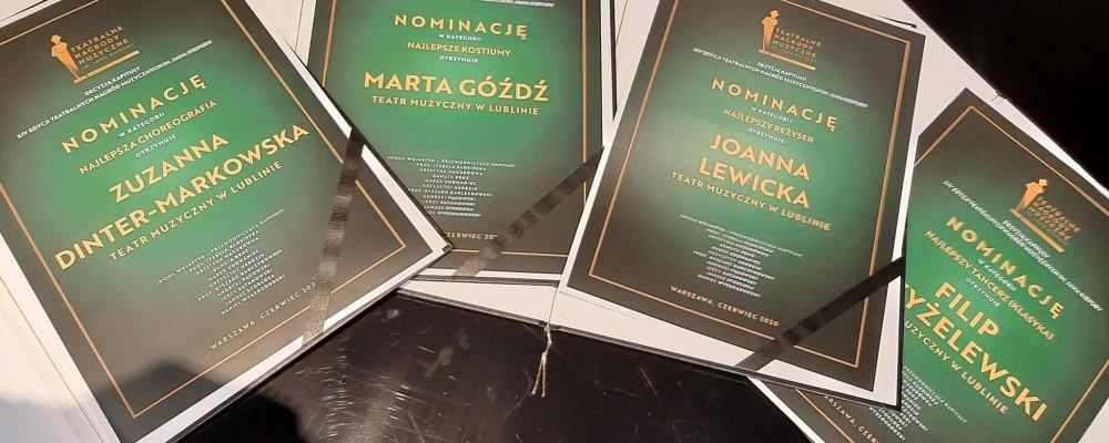 4 nominacje dla Teatru Muzycznego w Lublinie w XIV edycji Teatralnych Nagród Muzycznych im. J. Kiepury