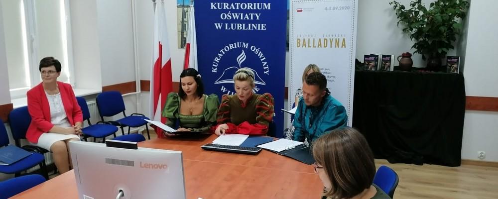 """Narodowe Czytanie """"Balladyny"""" Juliusza Słowackiego w Kuratorium Oświaty w Lublinie"""